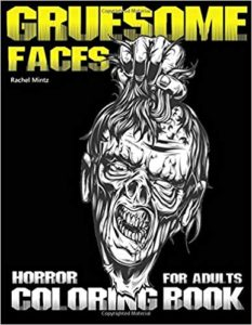 Gruesome horror coloring book adults halloween