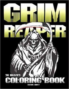 Grim Reaper Horror coloring book