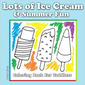 ice cream coloring book toddlers