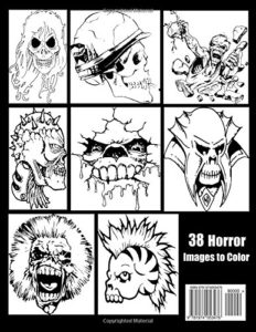 Coloring Book For Adults & Teens - Horror Skulls