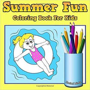 summer kids coloring book