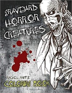 Graveyard zombies coloring book adults