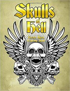 Skulls coloring book
