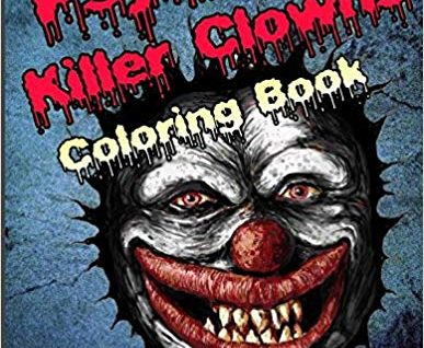 Scary killer clowns coloring book kids