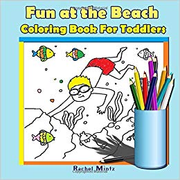 coloring book toddlers atthe beach