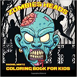Zombies heads coloring book for kids