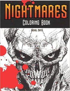 Coloring Book: Horrid Demons, Zombies, Screaming Skulls, Horror Monsters