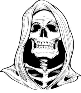 Horror coloring book adults