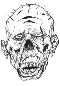 Gothic horror scary coloring book for men