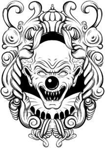 killer clowns coloring book