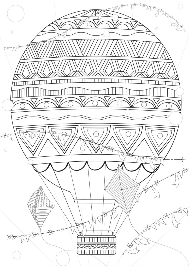 Coloring Page From Hot Air Balloon Book