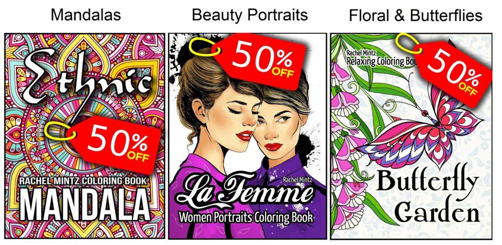 New Rachel Mintz Coloring  Books Discount