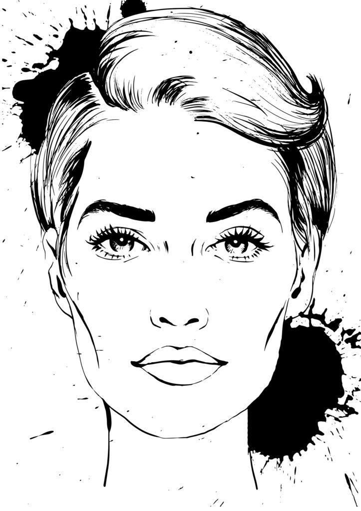 La-Femme-Wome portraits Coloring-Book