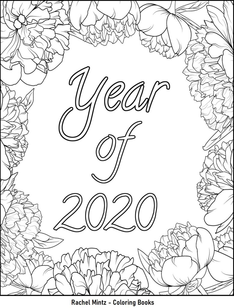 Rachel Mintz coloring books 2020