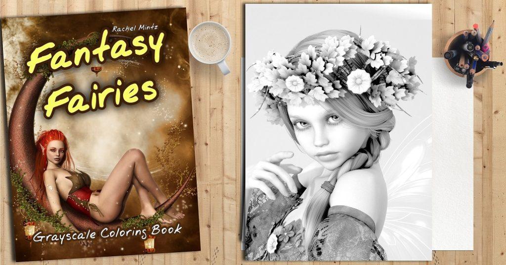 Rachel Mintz - Fantasy Fairies Coloring Book